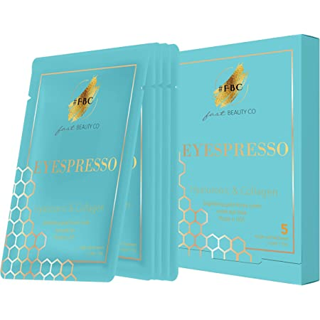 Fast Beauty Co. 5 Pairs Eyespresso Brightening Gold Honey Comb Under Eye Masks With Hyaluronic & Collagen