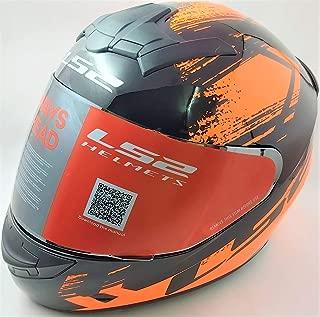 LS2 Helmets - Rookie - Chroma - Gloss Black Orange - Single Mercury Visor Full Face Helmet - (Large - 580 MM)