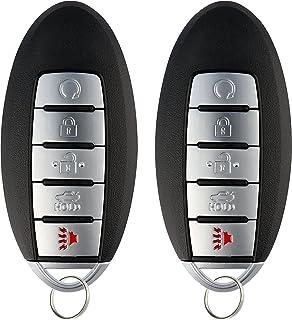 KeylessOption Keyless Entry Remote Car Smart Key Fob for Nissan Altima Maxima KR5S180144014 (Pack of 2)