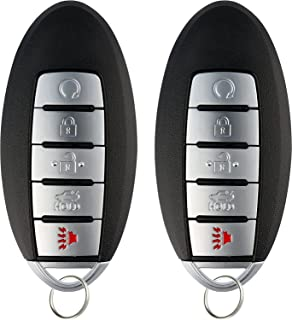 KeylessOption Keyless Entry Remote Car Smart Key Fob for Nissan Altima Maxima KR5S180144014 (Pack of 2)