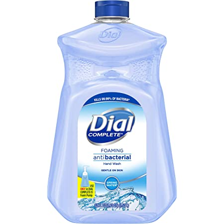 Dial Complete Antibacterial Foaming Hand Soap, Spring Water, 52 Fl Oz Refill