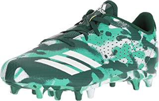 Unisex Adizero 5 Star 7.0 Football Shoe, White/Collegiate hi-res Green, 2 M US Little Kid