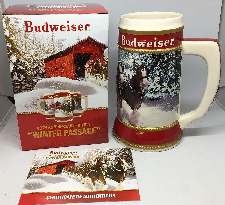 2017 Budweiser Holiday Stein Winter Holiday Retreat 38th Anniversary