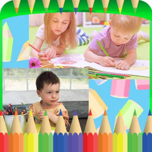 Farbige Bleistifte Collage