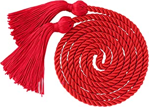 red and silver graduation cords