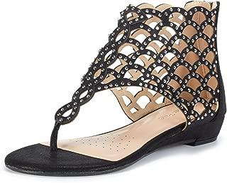 Women's Jewel Rhinestones Design Ankle High Flat Sandals