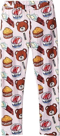 Teddy Bear Ice Cream Print Leggings (Infant/Toddler)