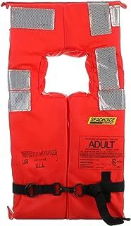 Seachoice Type I Commercial Offshore Vest, Fluorescent Orange, Reflective Panels