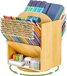 Bamboo Double Side Desk Organizer Storage Accessories
