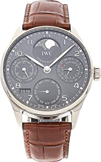 iwc portuguese chronograph automatic white dial men's watch