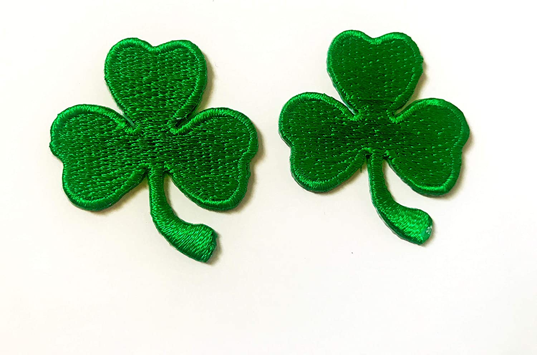 TH Set 2 Tiny Mini Green Cute T-S Lowest price challenge Patch Cartoon Jacket Shamrocks Max 62% OFF
