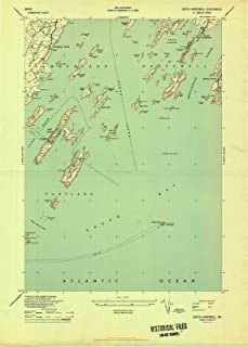 Maine Maps - 1944 South Harpswell, ME USGS Historical Topographic Map - Cartography Wall Art - 32in x 44in