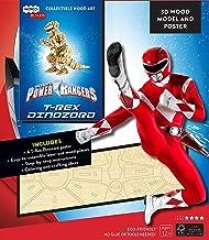 IncrediBuilds: Power Rangers: T-Rex Dinozord 3D Wood Model and Poster