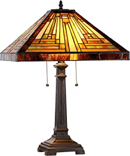 Chloe Lighting CH33359MR16-TL2 Innes Tiffany-Style Mission 2 Light Table Lamp 16-Inch Shade