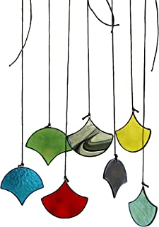 HAOSUM Suncatchers Set of 7 Multicoloured Stained Glass Window Hangings Ornament Sets Handmade for Home, Garden, Patio and Party Decoration