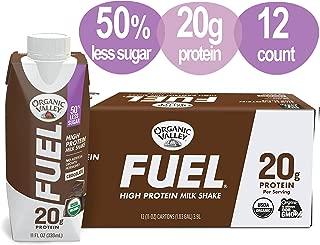Organic Valley, Organic Fuel High Protein Milk Shake, 20G Protein, Chocolate, 11 Fl Oz (Pack of 12)