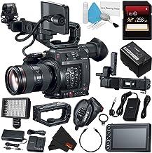 Canon EOS C200 EF Cinema Camera and 24-105mm Lens #2244C002 (International Model) + 256GB SDXC Card + Professional 160 LED...