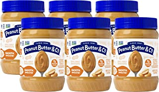 Peanut Butter & Co. Smooth Operator Peanut Butter, Non-GMO Project Verified, Gluten Free, Vegan, 16 Ounce (Pack of 6)