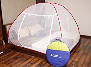 Classic Mosquito Net Foldable Flexible for Double Bed|King Size| - Red
