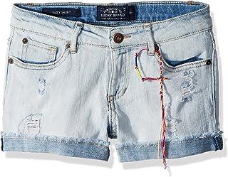 سراويل قصيرة للفتيات من لاكي براند 5 جيوب بأساور قابلة للتمدد