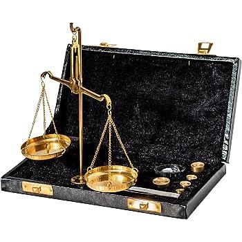 aubaho Balance tr/ébuchet /étui Laiton avec des Poids Style Antique 22cm