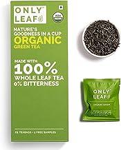 Onlyleaf Organic Green Tea, 25 Bags (Free 2 Exotic Samples)