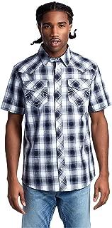 Men's Western Woven Short Sleeve Button Shirt