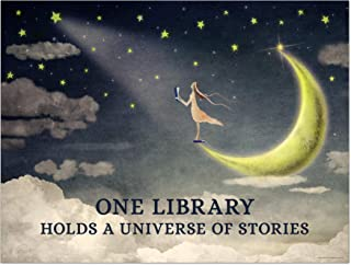 One Library Holds a Universe of Stories Quote Print. Fine Art Paper, Laminated, or Framed. Multiple Sizes for Library, Home, Office, or School