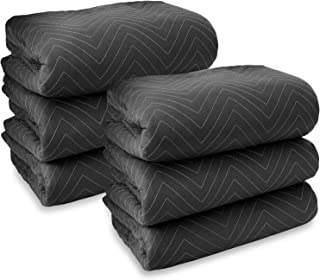 Sure-Max 6 Moving & Packing Blankets - Heavy Duty Pro - 80