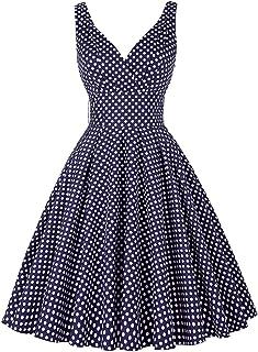 GRACE KARIN Vintage Sleeveless V-Neck Swing Party Dress CL010611