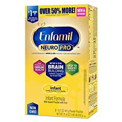 Enfamil NeuroPro Baby Formula Milk Powder Refill, 31.4 ounce - MFGM, Omega 3 DHA, Probiotics, Iron &