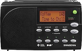 Sangean DPR65 bärbar digital radio (LCD-skärm, DAB+, FM-RDS) svart