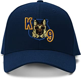 K-9 Unit Dog Police Embroidery Adjustable Structured Baseball Hat Navy