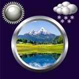 自然時計&天気ウィジェット