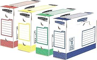 Bankers Box -4474501 - Boîte D'archives Heavy Duty A4+ 100mm - Pack de huit, Multicouleurs, L9.5 x H24.4 x L33cm