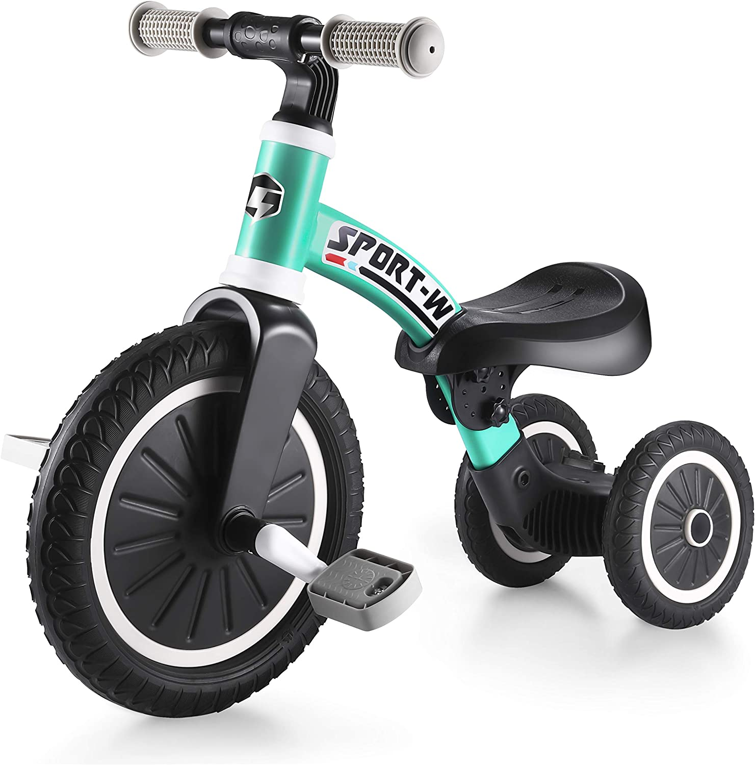 Kids Tricycles Balance Bike 2 in 1 for 2-4 Years Old Kids Extendable 2 Wheel or 3 Wheel Trike 3 Wheel Toddler Bike with Detachable Pedals and Telescopic Wheel,Indoor Outdoor