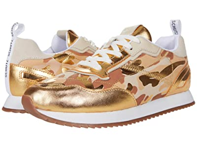 Schutz Penny (Ouro/Off-White) Women
