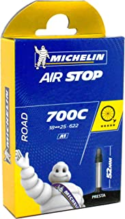 Michelin A1 Airstop Road Presta Valve Inner Tube, 700 x 18-25cm, Black