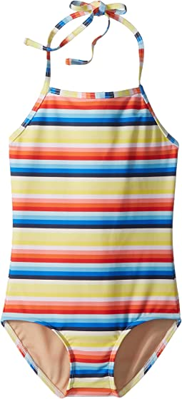 Retro Rainbow Stripe One-Piece Swimsuit (Infant/Toddler/Little Kids/Big Kids)