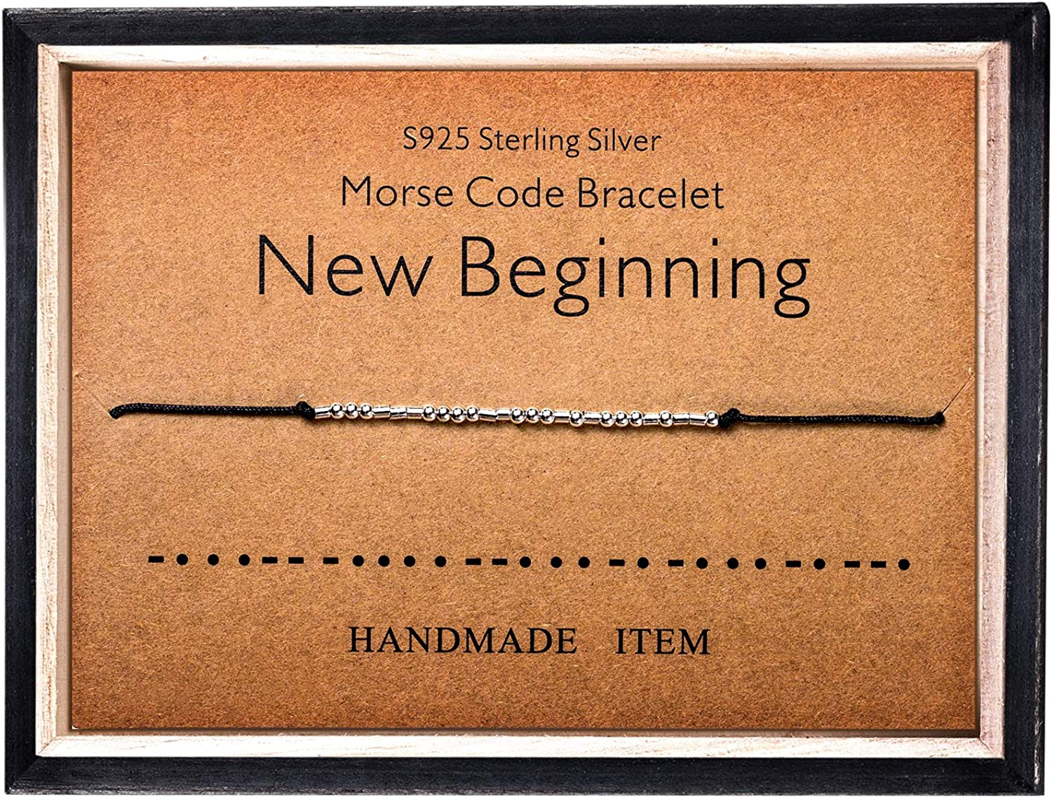Morse Code Bracelet New York Mall 925 Sterling Silver Beads Secre on All stores are sold Silk Cord