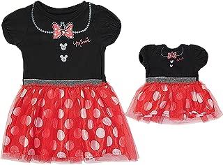 Disney Minnie Mouse Toddler Girl & Doll Costume Tutu Dress Set