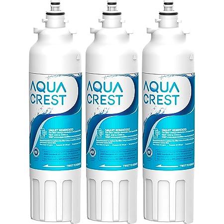 AQUA CREST ADQ73613401 Refrigerator Water Filter, Replacement for LG LT800P, ADQ73613402, ADQ73613408, ADQ75795104, Kenmore 9490, 46-9490, LSXS26326S, LMXC23746S, LMXC23746D (Pack of 3)