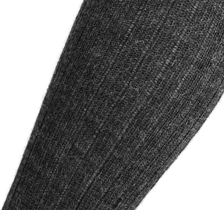 normani 3 Paar Kniestr/ümpfe aus 100/% Reiner Schafwolle Thermisch d/ämmende Schafwollsocken mit verst/ärkte Sohle