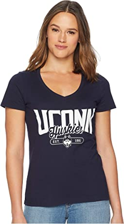 UConn Huskies University V-Neck Tee