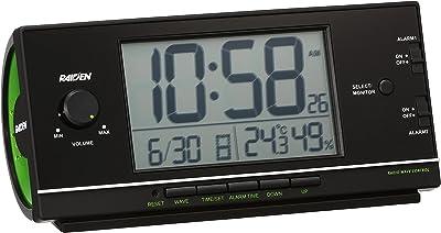 セイコー クロック 目覚まし時計 電波 デジタル 大音量 PYXIS ピクシス RAIDEN ライデン 黒 NR534K SEIKO