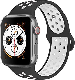 Bands Compatible with Apple Watch 38mm 40mm 42mm 44mm, Soft Silicone Replacement Wristband Compatible with iWatch Series 1/2/3/4/5