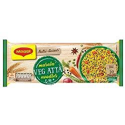 MAGGI NUTRI-LICIOUS Masala Veg Atta Noodles – (Pack of 4) 290g Pouch