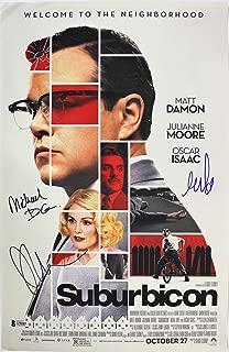 Suburbicon (3) Moore, Cohen Authentic Signed 11x17 Photo Autographed BAS #A70503