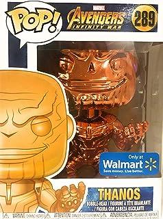 Funko Pop! Marvel: Infinity War-Thanos, Chrome/Orange(Exc) Action Figure - 36222