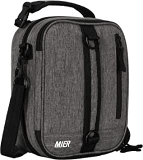 MIER Insulated Lunch Box Bag Expandable Lunch Pack for Men, Women, Gray